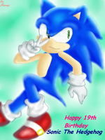 Happy 19th Bday Sonic:3 by ManamiTheBest