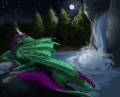 Under the moon by 10animallover10