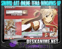 Asuna Yuuki Theme Windows XP by Danrockster