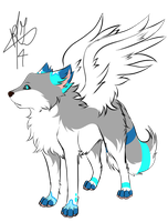 Winged Wolf by RippedMoon