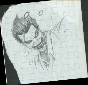 Joker sketch notebook page by LaRhsReBirTh