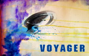 Water Color of Voyager by Belanna42