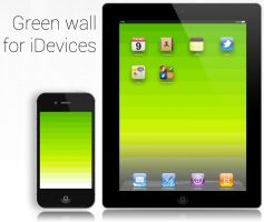 Green wallpaper for iDevices by Nabucodorozor