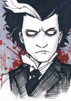 Sweeney Todd sketch card by KidNotorious
