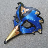 Persian Raven Mask--Blue by merimask