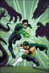 Green Lantern and Hurricane by MBorkowski