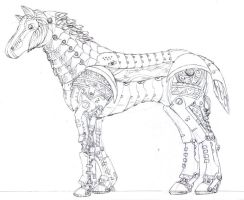 Steampunk Horse by Legato895