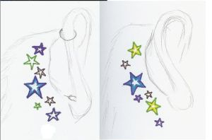 Ear tat sketches by CallistaAstra