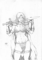 RED SONJA - PENCIL - by LEO MATOS by Ed-Benes-Studio