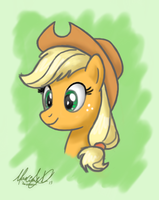 Applejack Quick Sketch by Maxl654