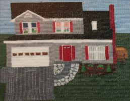 House in Needlepoint by CarolynYM