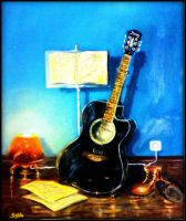 Studyin' the A Major Chord by sabb-art
