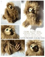 OOAK Sloth PRE-ORDERS by Nevask