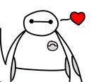 Baymax doodle by LuminescentMachine