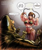 Slave Leia rises up by Pegius