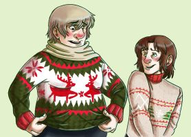 Infamous Christmas Sweaters by Tikitail