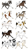 -Christmas Batch- Horse Adoptables OPEN by CookieLoveXO