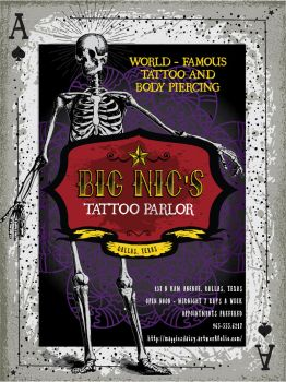 tattoo parlor Poster-Design Cuts freebies tutorial by Maggiesdaisy