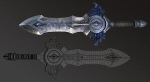 World of Warcraft Sword hi-res study by Morxx