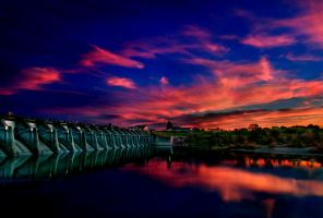 Nimbus Dam Sunset by TchaikovskyCF