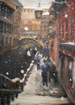 Snowfall in Venice by maybelletea