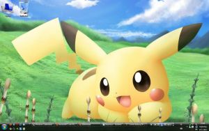 Pikachu Desktop 14-06-'10 by ManGa-AniMe-YaOi-Fan
