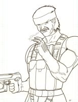 Solid Snake by kyletwilight