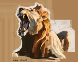 Sketchbook - Colour and Light(Lion) by CaconymDesign