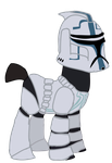 Hardcase from Star Wars the Clone Wars in MLP by Ripped-ntripps