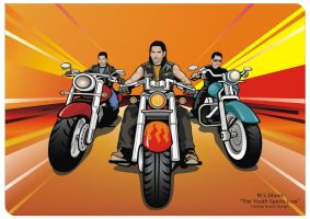 M.S.DHONI THE YOUTH ICON by jagatvyas