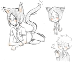 Some neko Uryuu doodles by ttwldnjs