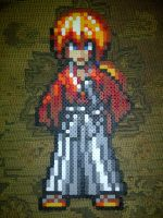 Kenshin Himura Bead Sprite by LingeringSentiments
