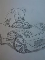 Sonic's new car by SpongeDudeCoolPants
