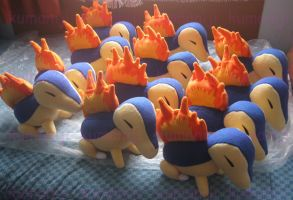 Cyndaquil pokemon plushies by chocoloverx3