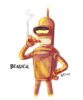 Golden Bender by Fomle-chan