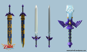 LOZ: Skyward Sword - True Master Sword by seancantrell