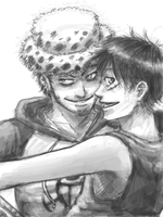 OP - Luffy and Law by FerioWind