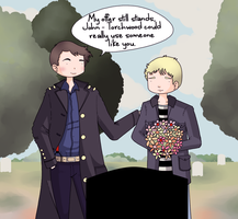 John Watson and Captain Jack Harkness: An offer. by ice-cream-skies