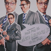 Robert Downey Jr PNG. by devilxkitten