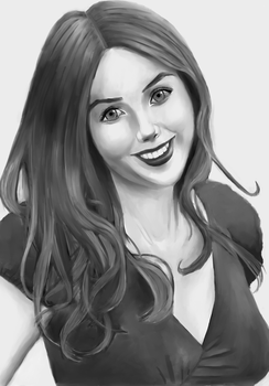 black and white protrait by cijo123