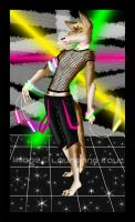 Ulric Coyote at a RAVE by WolfzBlood
