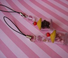 Kawaii Candy Jar Cell Charms by FatallyFeminine
