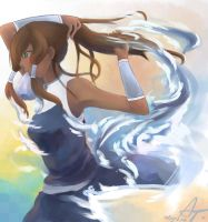 The super awesome Korra by Scarlettestar