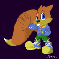 Conker the Squirrel by PilgrimJohn
