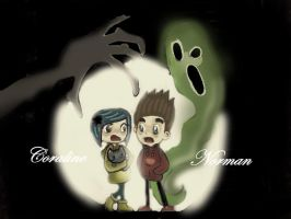 escape the evil Coraline and Norman by coralineXnorman