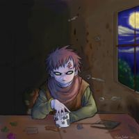 Sabaku no Gaara night by clingwrap