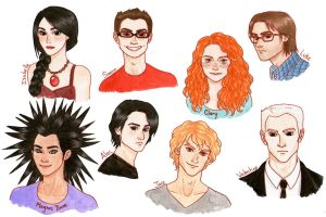 TMI : City of Bones - Characters Color version by Naineuh