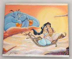 Aladdin and Jasmine by Caricatureart
