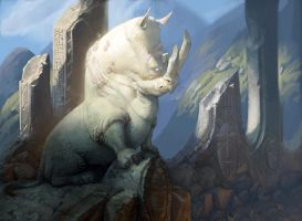 Rhino God by Artsammich