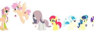 Next Gen Fluttershy's Kids by PrincessLunarWolf